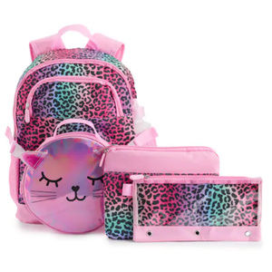 Kitty Cat Backpack School Set Lunch Box Pencil